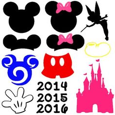 This Mouse Ears Set is an instant DIGITAL DOWNLOAD file to be cut out with an electronic cutting machine that accepts one of the following file