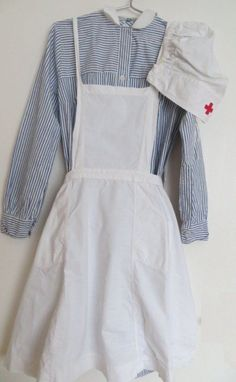Original German WW 2 Red Cross Nurse Dress