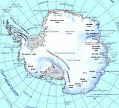Antarctica South Pole Blank Printable Map Outline World - Antarctica cities map