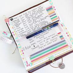 #creativemidorichallenge ✨ #mtn #midoritravelersnotebook #midori #travelersnotebook #travel #journal #travelersnote #planner #planneraddict #plannerlove #plannersupplies #kawaii