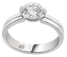 1.03 Carat Sabra Diamond 14Kt White Gold Engagement Ring