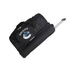 "Vancouver Canucks Black 27"" 2-Wheel Rolling Drop Bottom Duffel Bag"