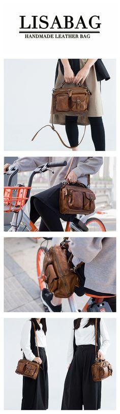 80cdf89766df1 Handmade Full Grain Leather Handbag Messenger Crossbody Bag Small Purse  SP03 - Vintage Brown