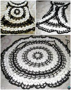 DIY Crochet Skull Circle Vest Pattern-Crochet Circular Vest Sweater Jacket… #Crochet #Outwear