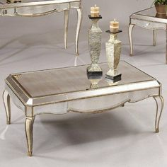 Bett Mirror T1267 100 Collette Rectangular Coffee Table In Antique Gold By