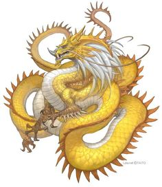 Dragon ~ Master of Mystical Fire ~ is the oldest and wisest spirit-animal, illuminating collective unconsciousness through lightning (by G. Japanese Dragon, Chinese Dragon, Japanese Tatto, Creature Concept Art, Creature Design, Medieval Tattoo, Dragons, Dragon Artwork, Fantasy Dragon
