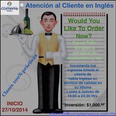 #Curso-taller clases prácticas sólo lo requerido para el servicio y la atención al cliente de habla inglesa. #PuertoVallarta #RivieraNayarit #Bucerias #PuntaMita #Yelapa