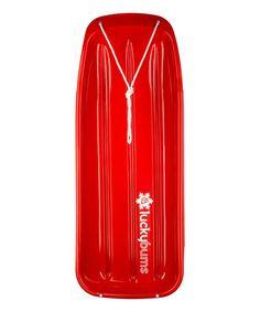 Loving this Red 48'' Kids Toboggan on #zulily! #zulilyfinds