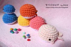 귀엽고 뜨기 쉬운 코바늘 고래인형♥(도안링크) : 네이버 블로그 Crochet Hats, Beanie, Knitting Hats, Beanies, Beret