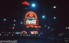 35mm-Slide-Coca-Cola-Sign-Mayflower-Hotel-Night-Lights-1962-Columbus-Circle-NY