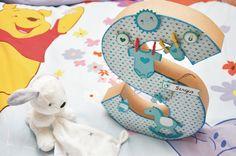 letra decorada scrapbooking bebé