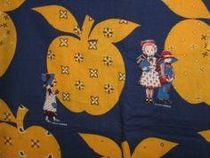 Adorable Vintage Holly Hobbie Fabric  1/2 OFF by 23burtonavenue, $7.50