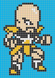 dragon ball z pixel art templates