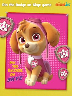 Pin the Badge on Skye is the perfect PAW Patrol party game.