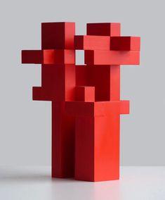Milija Belić   red sculpture art