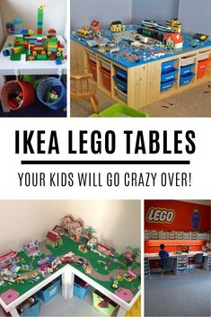 Oh my goodness how GENIUS are these IKEA lego table hack ideas!You can find Lego table and more on our website.Oh my goodness how GENIUS are these IKEA lego table hack i. Lego Table Ikea, Lego Table With Storage, Lego Desk, Kid Desk, Lego Play Table, Kids Play Table, Lego Kits, Legos, Mesa Lego