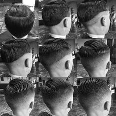 A great step by step cut by @michaelbarbering Perfect technique and execution…