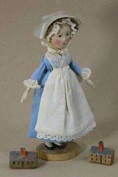 Antique Dolls, Vintage Dolls, Peg Wooden Doll, Clothespin Dolls, Tiny Dolls, New Item, Doll Maker, Queen Anne, Beautiful Dolls