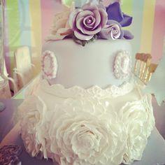 Surprise 30th Birthday Cake (Vintage Tea Party Theme). #carosconfections