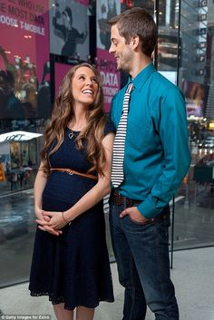 Look of love: Jill and Derick at 'Extra' in New York on October 23, 2014. The couple are c...