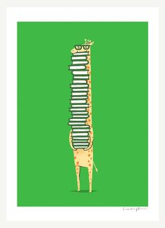 A book lover- Art print