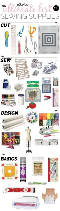 The Ultimate List of Sewing Supplies | See Kate Sew