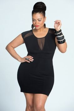Plus size dress.  love everything about this look...have a wedding to attend this weekend...will try to sport the hairdo also...