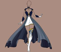 Fashion by Karijn-s-Basement on DeviantArt Dress Drawing, Drawing Clothes, Anime Outfits, Cool Outfits, Fashion Outfits, Fashion Design Drawings, Fashion Sketches, Clothing Sketches, Anime Dress