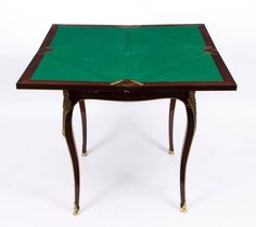 Antique Victorian Rosewood and Ormolu Envelope Card Table, circa 1880 | From a unique collection of antique and modern game tables at https://www.1stdibs.com/furniture/tables/game-tables/