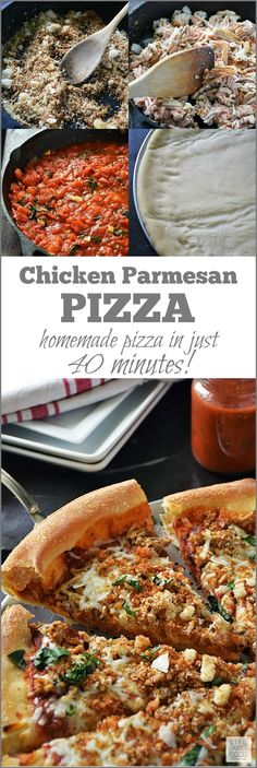 Chicken Parmesan Pizza | by Life Tastes Good tastes just like the classic Italian dish typically served over pasta, but I'm putting it on pizza dough today! From the fresh breadcrumbs to the homemade tomato sauce, this pizza is layered with fabulous Italian flavors for maximum flavor! sponsored #LTGRecipes