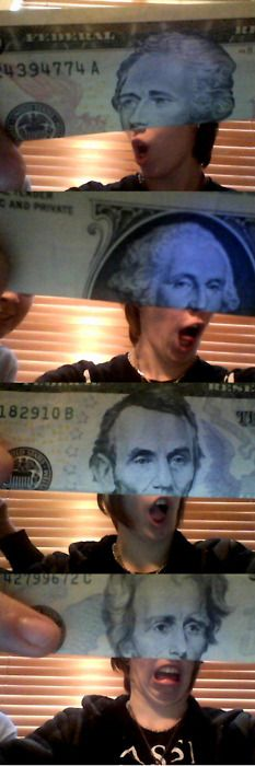 #1 funniest thing I have ever seen done with money-