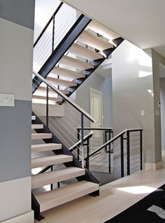 Modern House Stairs Design Best Of Images 14 Top Contemporary Staircase Design Staircase Railing Design, Interior Stair Railing, Modern Stair Railing, Modern Stairs, Railing Ideas, Cable Railing, Staircase Ideas, Steel Railing, Wood Staircase
