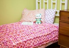 Chunky knit blanket | Arm Knit Blanket | Learn how to Arm Knit