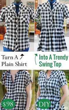 We love this Anthro-inspired swing top hack! Save about $100 and make your own trendy version of this swing top easily. DIY instructions here: http://www.ehow.com/how_12342927_transform-plain-shirt-trendy-swing-top.html?utm_source=pinterest.com&utm_medium=referral&utm_content=freestyle&utm_campaign=fanpage