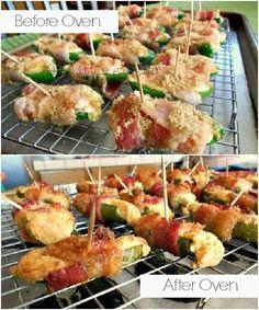 Cheesy Crab Stuffed Jalapenos.