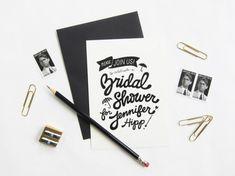 Black + White Bridal Shower Invitations