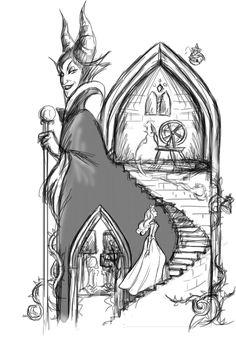 GIF (StepByStep) Sleeping Beauty - Maleficent by Chris-Darril