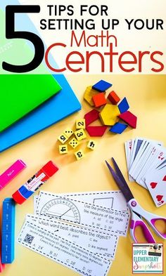 Math Centers can be a challenge, but they don' Here are 5 helpful tips and ideas for setting up your math centers for back to school! Grab the math game FREEBIES! Elementary Math, Kindergarten Math, Teaching Math, Upper Elementary, Teaching Ideas, Creative Teaching, Math Teacher, Teaching Tools, Maths