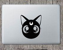 Luna sticker Sailor Moon chat autocollant pour Apple ordinateur portable Macbook Luna Sailor Moon voiture fenêtre Wall Sticker vinyle