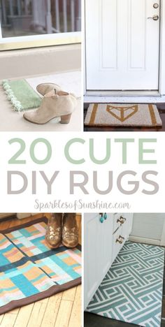 Want to make a statement without spending a lot of money? Check out these 20 cute DIY rugs you can make for your home today.