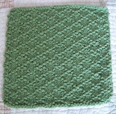 A very simple yet elegant stitch pattern. Great choice for the brand new knitter. The stitch pattern is excellent for practicing your knit and purl stitches. The stitch pattern repeat is provided; perfect if you want to knit up a matching tea towel or even a baby blanket.