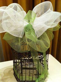 Bird cage at a wedding