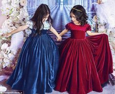 Arsenal 'princess' Diora Usmanova boasts about dressing her two-year-old in couture Baby Girl Dresses Diy, Kids Party Wear Dresses, Girls Party Wear, Gowns For Girls, Frocks For Girls, Girls Dresses, Flower Girl Dresses, Fashion Kids, Princess Frocks
