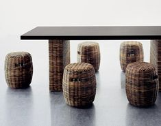Rattan Furniture from Gervasoni by designer Paola Navone - simply adorable