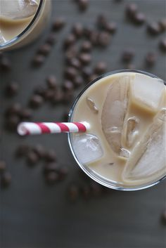 Caramel Iced Latte  2 pumps (or about 1 1/2 to 2 tablespoons) caramel syrup (such as Monin or Torani) 1/3 cup coffee concentrate 2/3 cup milk Ice  1. Add two pumps of caramel syrup to a glass. 2. Pour coffee concentrate and milk into the glass. 3. Add ice as desired.