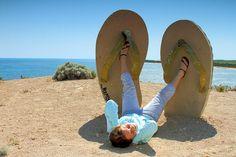 flip flops in the sand - flip flop humor