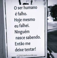 O ser humano é falho