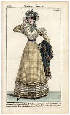 Journal des Dames et des Modes, 1823. I love the ruffles!