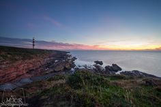 Sunrise over the Tarbat Ness lighthouse in the North East of Scotland near Portmahomack.