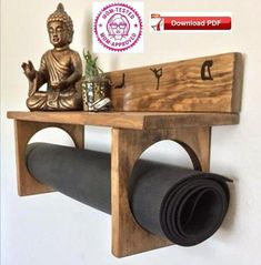 save $, DIY Yoga Mat Rack Plan estimate cost of materials $15 Experience Level-Novice Woodworker 4 Pages of details and List Of Material needed included in the downloadable PDF. Easy to follow plans